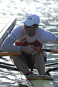 Seville. SPAIN, 16.02.2007. SUI M1X. Andre VONABURG, trains at the Seville Training Centre in preparation for the weekends - FISA Team Cup, [Photo Peter Spurrier/Intersprt Images]    [Mandatory Credit, Peter Spurier/ Intersport Images]. , Rowing Course: Rio Guadalquiver Rowing Course, Seville, SPAIN,
