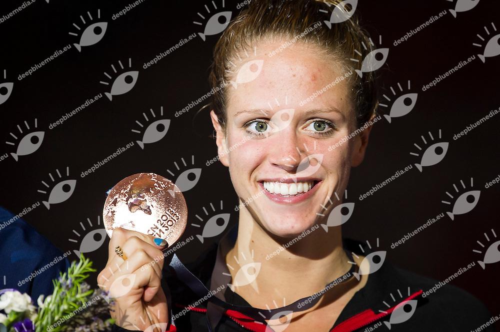 CALDWELL Hilary CAN bronze medal<br /> Women's 200m backstroke final<br /> 15th FINA World Aquatics Championships<br /> Palau Sant Jordi, Barcelona (Spain) 03/08/2013 <br /> &copy; Giorgio Perottino / Deepbluemedia.eu / Insidefoto