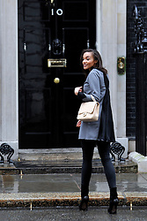 © Licensed to London News Pictures. 22/02/2012, London, UK. Amal Fashanu arrives for the summit. The UK Prime Minister holds a summit at Downing Street on racism in football. Photo credit : Stephen Simpson/LNP
