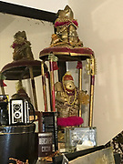 Spinning hand made art work by Preacher- with teddy bear stuffed animal on top snowman on bottom &ndash;gold-and adorned with beads and hair items- 32intall spins one of 2<br /> <br /> THIS IS PART OF OUR COLLECTION OF MARGARET'S GROCERY AND REV. H.D. DENNIS - ART WORKS in Mississippi Folk Art Foundations Collection <br /> <br /> Ms. Altman is the Founder and Director of the Mississippi Folk Art Foundation a non profit, that is dedicated to preserving Margaret's Grocery. A visionary outdoor folk environment in Vicksburg Mississippi.<br />  to see some of the collection documented by William Arnett in his book Souls Grown Deep volume 2 please see see link below.<br /> <br /> http://www.soulsgrowndeep.org/artist/rev-harmon-d-dennis<br /> <br /> <br /> https://www.gofundme.com/SaveMargaretsGrocery?lang=en-US
