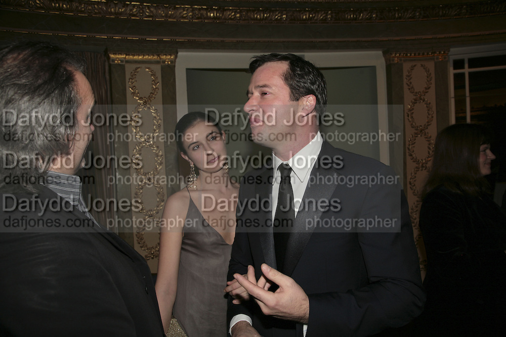 Jessica Adams and James Purefoy, Cocktail party before the  27th Annual London Film Critics' Circle Awards. In aid of the NSPCC. Dorchester. 8 February 2007.  -DO NOT ARCHIVE-© Copyright Photograph by Dafydd Jones. 248 Clapham Rd. London SW9 0PZ. Tel 0207 820 0771. www.dafjones.com.