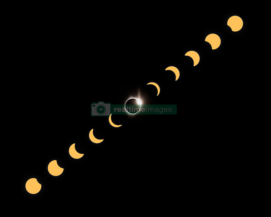 August 21, 2017 - John Day, OR, U.S - A composite of the 2017 American eclipse in totality as seen from John Day, Oregon. (Credit Image: © Mike Albright via ZUMA Wire)