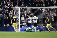 Football - 2019 / 2020 Emirates FA Cup - Fourth Round, Replay: Tottenham Hotspur vs. Southampton<br /> <br /> Southampton's Shane Long scores his side's equalising goal to make the score 1-1, at The Tottenham Hotspur Stadium.<br /> <br /> COLORSPORT/ASHLEY WESTERN