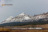 AMTRAK Train at Marias Pass in Glacier National Park, Montana, USA