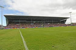 Over 29,000 fans attended the Connacht Championship match at McHale park on sunday last.<br />Pic Conor McKeown