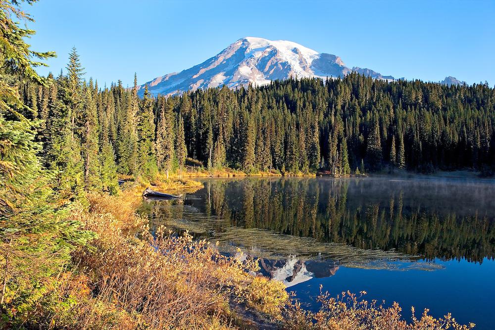 Mt. Rainier reflecting in Reflection Lake, Mt. Rainier National Park
