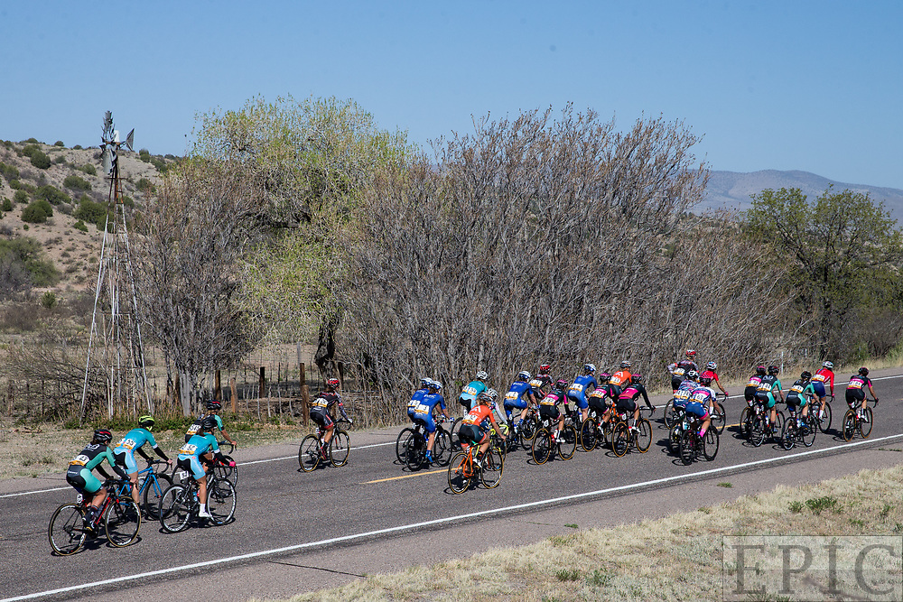 SILVERY CITY, NM - APRIL 18: The front of the womens field during stage 1 of the Tour of The Gila on April 18, 2018 in Silver City, New Mexico. (Photo by Jonathan Devich/Epicimages.us)