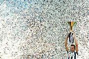 © Filippo Alfero<br /> Juventus vs Atalanta - Serie A 2011 / 2012<br /> Torino, 13/05/2012<br /> sport calcio<br /> Nella foto: Alessandro Del Piero alza la coppa dello scudetto