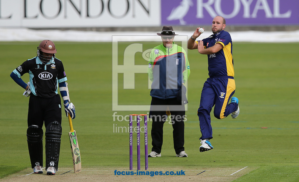 Chris Rushworth of Durham County Cricket Club bowling during the Royal London One Day Cup match at Emirates Durham ICG, Chester-le-Street<br /> Picture by Simon Moore/Focus Images Ltd 07807 671782<br /> 14/08/2014