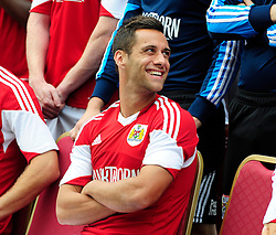 Bristol City's Sam Baldock laughing during the team photo - Photo mandatory by-line: Dougie Allward/JMP - Tel: Mobile: 07966 386802 31/07/2013 - SPORT - FOOTBALL - Avon Gorge Hotel - Clifton Suspension bridge - Bristol -  Team Photo