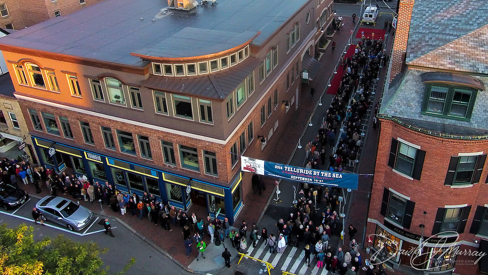 Street scene at opening night of the Telluride By The Sea Film Festival at The Music Hall in Portsmouth, NH. Sep. 19, 2014