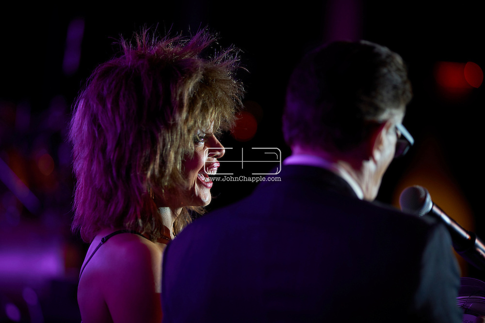 February 22, 2016. Las Vegas, Nevada.  The 22nd Reel Awards and Tribute Artist Convention in Las Vegas. Celebrity lookalikes from all over the world gathered at the Golden Nugget Hotel for the annual event. Pictured is Tina Turner lookalike, Samira.<br /> Copyright John Chapple / www.JohnChapple.com /