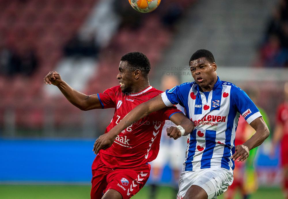 12-05-2018 NED: FC Utrecht - Heerenveen, Utrecht<br /> FC Utrecht win second match play off with 2-1 against Heerenveen and goes to the final play off / (L-R) Gyrano Kerk #7 of FC Utrecht, Denzel Dumfries #2 of SC Heerenveen