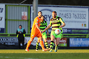 Forest Green Rovers Charlie Clough(5) plays a pass during the Vanarama National League match between Forest Green Rovers and Braintree Town at the New Lawn, Forest Green, United Kingdom on 21 January 2017. Photo by Shane Healey.