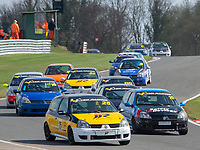 #25 Simon DONOGHUE Renault Clio 182  during K-Tec Racing Clio 182 Championship as part of the 750 Motor Club at Oulton Park, Little Budworth, Cheshire, United Kingdom. April 14 2018. World Copyright Peter Taylor/PSP.