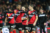 Joie Guingamp - Claudio BEAUVUE / Jeremy PIED - 14.12.2014 - Guingamp / Paris Saint Germain - 18eme journee de Ligue 1<br />