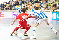 Benfica's Alan Grandi and Pescara's Luca Leggiero during UEFA Futsal Cup 2015/2016 3º/4º place match. April 22,2016. (ALTERPHOTOS/Acero)