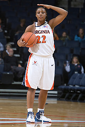 Virginia Cavaliers G Monica Wright (22)..The Virginia Cavaliers women's basketball team fell to the #14 ranked George Washington Colonials 70-68 at the John Paul Jones Arena in Charlottesville, VA on November 12, 2007.