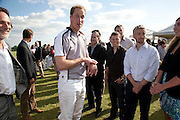 HRH PRINCE WILLIAM; ANDY ELLIS; MITCH GRIFFITHS,  The Dalwhinnie Crook  charity Polo match  at Longdole  Polo Club, Birdlip  hosted by the Halcyon Gallery. . 12 June 2010. -DO NOT ARCHIVE-© Copyright Photograph by Dafydd Jones. 248 Clapham Rd. London SW9 0PZ. Tel 0207 820 0771. www.dafjones.com.