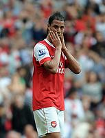 Marouane Chamakh<br /> Arsenal 2010/11<br /> Arsenal V Blackpool (6-0) 21/08/10<br /> The Premier League<br /> Photo Robin Parker Fotosports International