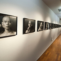 MILAN, ITALY - JULY 06: Gallery of early self portraits by Chinese Artist Zhang Huan at the opening of the Exhibition 'Zhang Huan: Ashman' at the Padiglione Arte Contemporanea of Milan on July 6, 2010 in Milan, Italy. Zhang Huan: Ashman is  an exhibition of 42 of Huan's works, coming from international collections and dating from the early nineties to the most recent realized with ash. (...***Agreed Fee's Apply To All Image Use***.Marco Secchi /Xianpix. tel +44 (0) 207 1939846. e-mail ms@msecchi.com .www.marcosecchi.com