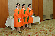 NORTH KOREA: Pyongyang.Government employed waitresses at official dinner