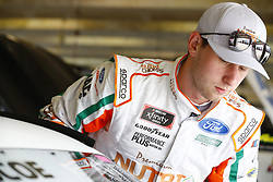 April 6, 2018 - Ft. Worth, Texas, United States of America - April 06, 2018 - Ft. Worth, Texas, USA: Chase Briscoe (60) hangs out in the garage during practice for the My Bariatric Solutions 300 at Texas Motor Speedway in Ft. Worth, Texas. (Credit Image: © Chris Owens Asp Inc/ASP via ZUMA Wire)