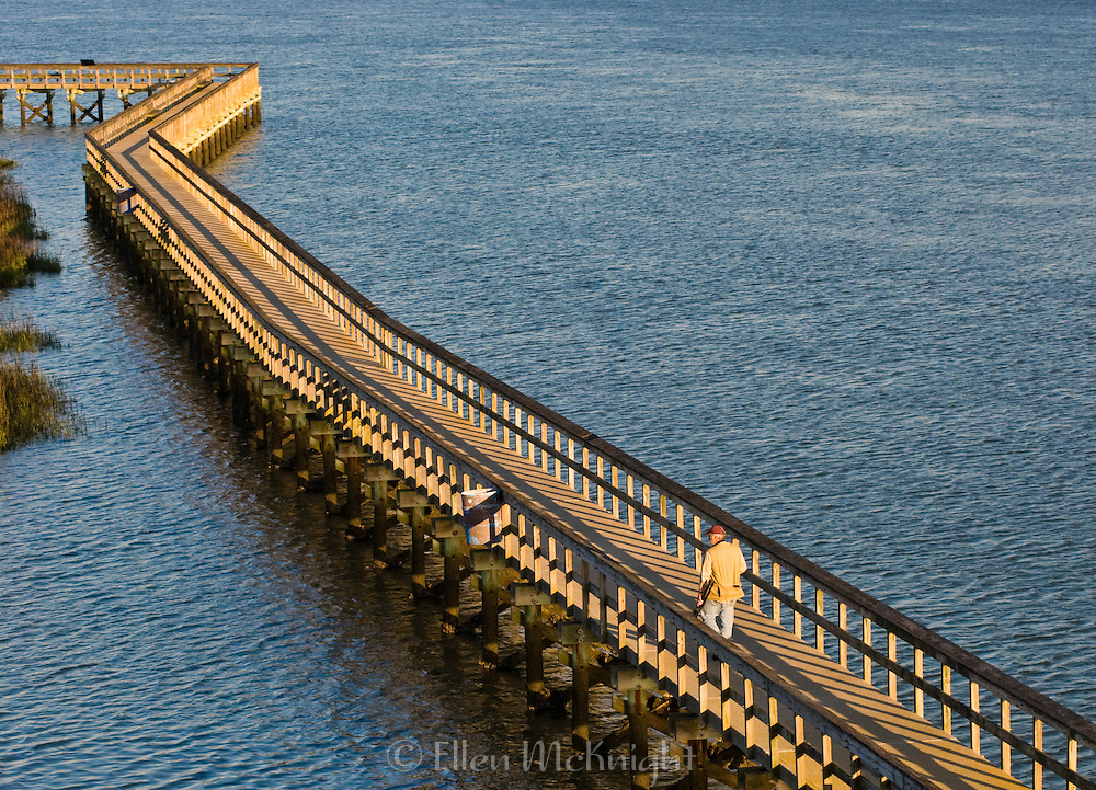 The Port Royal Boardwalk and Observation Tower spans over the banks of the Beaufort River and Battery Creek waterway.
