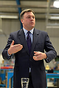 © Licensed to London News Pictures. 14/02/2013. Bedford, UK. Ed Balls. Ed Miliband MP, Leader of the Labour Party, delivers a major speech at Bedford Training Group in Bedford today, 14th February 2013. In the speech he set out a 'One Nation Labour agenda for rebuilding Britain's economy'. The speech was followed by a Q&A session with Ed Balls, Shadow Chancellor and a tour of the training facility. Photo credit : Stephen Simpson/LNP
