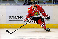 KELOWNA, CANADA, NOVEMBER 5: Taylor Leier #20 of the Portland Winterhawks skates on the ice as the Portland Winterhawks visit the Kelowna Rockets  on November 5, 2011 at Prospera Place in Kelowna, British Columbia, Canada (Photo by Marissa Baecker/Shoot the Breeze) *** Local Caption ***