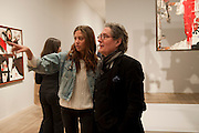 QUENTIN JONES AND HER FATHER  EDWARD JONES, Joan Mir—: The Ladder of Escape. Tate Modern. London. 12 April 2011. -DO NOT ARCHIVE-© Copyright Photograph by Dafydd Jones. 248 Clapham Rd. London SW9 0PZ. Tel 0207 820 0771. www.dafjones.com.<br /> QUENTIN JONES AND HER FATHER  EDWARD JONES, Joan Miró: The Ladder of Escape. Tate Modern. London. 12 April 2011. -DO NOT ARCHIVE-© Copyright Photograph by Dafydd Jones. 248 Clapham Rd. London SW9 0PZ. Tel 0207 820 0771. www.dafjones.com.