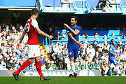 Chelsea's Cesc Fabregas makes a gesture after a stray pass during the Premier League match between Chelsea and Arsenal at Stamford Bridge, London, England on 17 September 2017. Photo by John Potts.