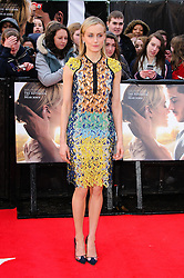 Taylor Schilling at The Lucky One premiere in  London, 23rd April 2012.  Photo by: Chris Joseph / i-Images
