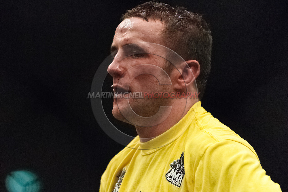 """NEWCASTLE, ENGLAND, UNITED KINGDOM, JANUARY 19 2008: Paul Taylor is pictured after his fight at """"UFC 80: Rapid Fire"""" inside the Metro Radio Arena in Newcastle, England on January 19, 2008."""