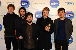 Mercury Prize. <br /> Foals attends the Barclaycard Mercury Prize at The Roundhouse, London, United Kingdom. Wednesday, 30th October 2013. Picture by Chris Joseph / i-Images