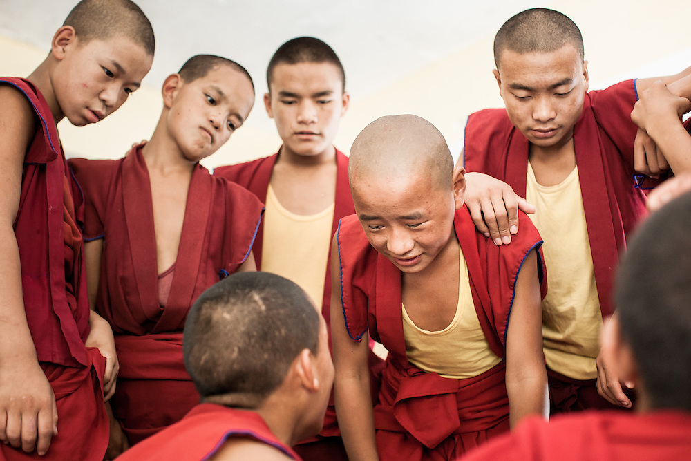 The young Buddhist monks of the Dhakpo <br />