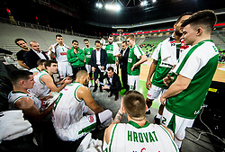 Gasper Okorn, coach of Petrol Olimpija during basketball match between KK Petrol Olimpija and KK Sixt Primorska in Round #5 of Liga Nova KBM 2017/18, on November 2, 2017 in Arena Stozice, Ljubljana, Slovenia. Photo by Vid Ponikvar / Sportida