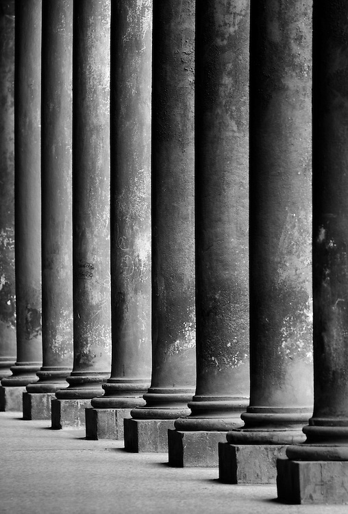 "Black and white photography.Columns in Bologna Italy by Karl R Lilliendahl photographer.This photo is available as open edition and limited edition giclee print in four sizes. Click on ""Get Print"" to see more details."