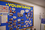 The staff notice board displaying information about C&A's volunteering program, Brazil.