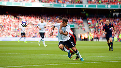 DUBLIN, REPUBLIC OF IRELAND - Saturday, August 5, 2017: Liverpool's Roberto Firmino is fouled by Athletic Club Bilbao's Iñigo Lekue for a penalty during a preseason friendly match between Athletic Club Bilbao and Liverpool at the Aviva Stadium. (Pic by David Rawcliffe/Propaganda)