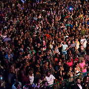 June 4, 2014 - New York, NY : <br /> Concertgoers watch Janelle Monáe (not visible) perform during the season's innaugural Celebrate Brooklyn! concert in Prospect Park on Wednesday night.<br /> CREDIT: Karsten Moran for The New York Times