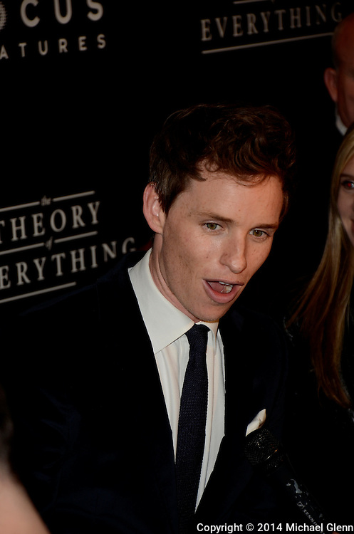 NYC, New York - October 20: Eddie Redmayne on the red carpet for their new motion picture The Theory of Everything at Museum of Modern Art MOMA on October 20, 2014 in New York, New York. Photo Credit: Michael Glenn / Retna Ltd