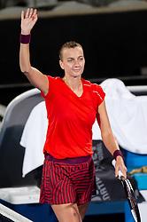 January 10, 2019 - Sydney, NSW, U.S. - SYDNEY, AUSTRALIA - JANUARY 10: Petra Kvitova (CZE) celebrates her victory at The Sydney International Tennis in the match between Angelique Kerber (GER) and Petra Kvitova (CZE) on January 10, 2018, at Sydney Olympic Park Tennis Centre in Homebush, Australia. (Photo by Speed Media/Icon Sportswire) (Credit Image: © Steven Markham/Icon SMI via ZUMA Press)