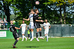 Blaz Vrhovec of NK Maribor vs Nik Lorbek of NS Mura during football match between NS Mura and NK Maribor in 10th Round of Prva liga Telekom Slovenije 2018/19, on September 30, 2018 in Mestni stadion Fazanerija, Murska Sobota, Slovenia. Photo by Mario Horvat / Sportida