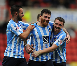 Romain Vincelot of Coventry City celebrates his goal against Swindon Town - Mandatory by-line: Paul Knight/JMP - Mobile: 07966 386802 - 24/10/2015 -  FOOTBALL - The County Ground - Swindon, England -  Swindon Town v Coventry City - Sky Bet League One