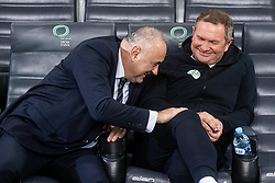 Radenko Mijatovic president of NZS and Matjaž Kek, head coach of Slovenia during the 2020 UEFA European Championships group G qualifying match between Slovenia and Israel at SRC Stozice on September 9, 2019 in Ljubljana, Slovenia. Photo by Grega Valancic / Sportida