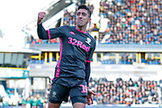 Leeds United midfielder Pablo Hernandez (19) scores a goal and celebrates to make the score 0-2 during the EFL Sky Bet Championship match between Huddersfield Town and Leeds United at the John Smiths Stadium, Huddersfield, England on 7 December 2019.