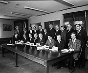 Fianna Fail Front Bench.     (H95).1975..04.02.1975..02.04.1975..4th February 1975..At Leinster House,Dublin,Jack Lynch leader of Fianna Fail unveiled his front bench..(L - R) standing..John Wilson, Education..Gene Fitzgerald, Labour..Michael O'Kennedy, Foreign Affairs..Brian Lenihan, Senate Representative..Padraig Faulkner, Local Government..Ruairi Brugha, Spokesman on Northern Ireland..Jim Tunney, Lands,.Liam Cunningham, gaeltacht..Robert Molloy, Posts and Telegraphs..Joe Dowling, Defence..Gerry Collins, Justice..Sitting (L-R),.James Gibbons, Agriculture..Paddy Lalor,Chief Whip..George Colley, finance..Joseph Brennan, Deputy Leader..Jack Lynch, party Leader..Desmond O'Malley, Industry and Commerce..Charles Haughey, Health..David Andrews, Social Welfare..Not pictured is.Sylvester Barrett, Transport and Power..Mr Barrett was in Bucharest at the time the picture was taken..
