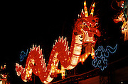 Handover celebrations. Dragon lampions.