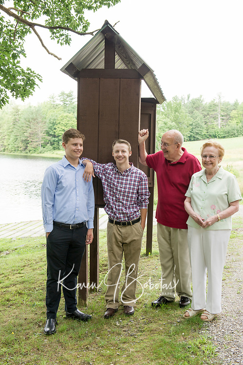 Nelson Family at Saltmarsh Pond.  ©2018 Karen Bobotas Photographer